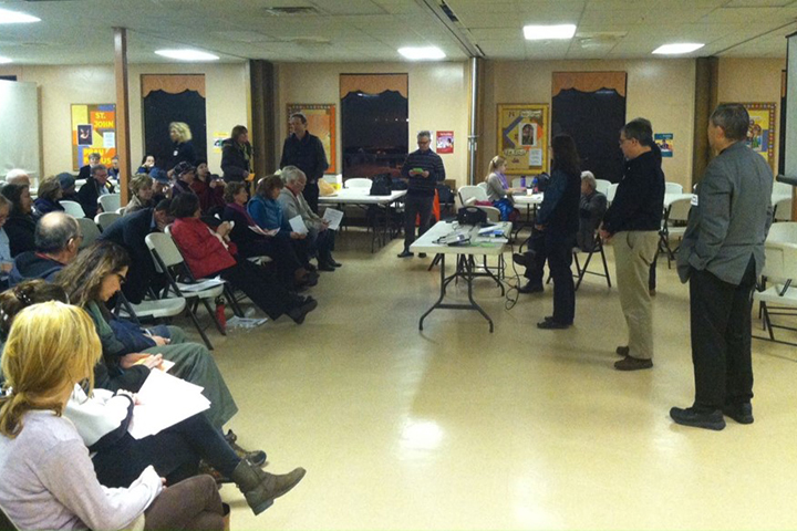 Project plans were shaped by many discussions such as this community forum in January 2015.