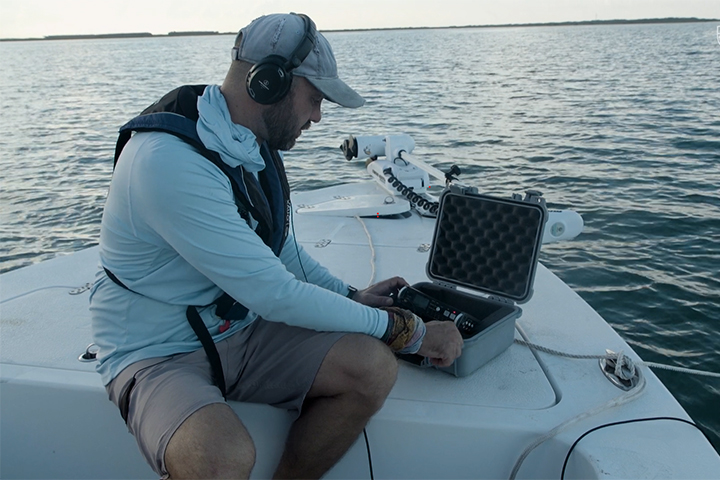 Acoustic monitoring offers an unobtrusive way to study aquatic life. (Photo credit: Thomas Swafford)