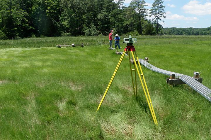 Elevation monitoring at Chesapeake Bay Virginia Reserve.