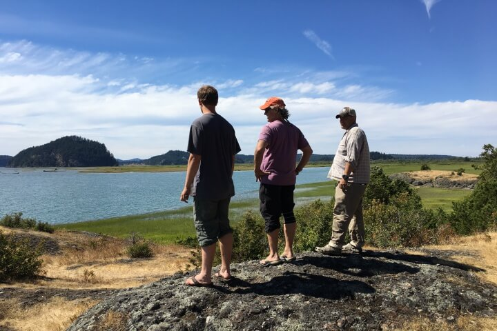 A 2018 project quantified baseline and restoration scenarios to put a dollar value to the climate mitigation benefit of restoring these Pacific Northwest estuaries. Photo credit: Leila Giovannoni.