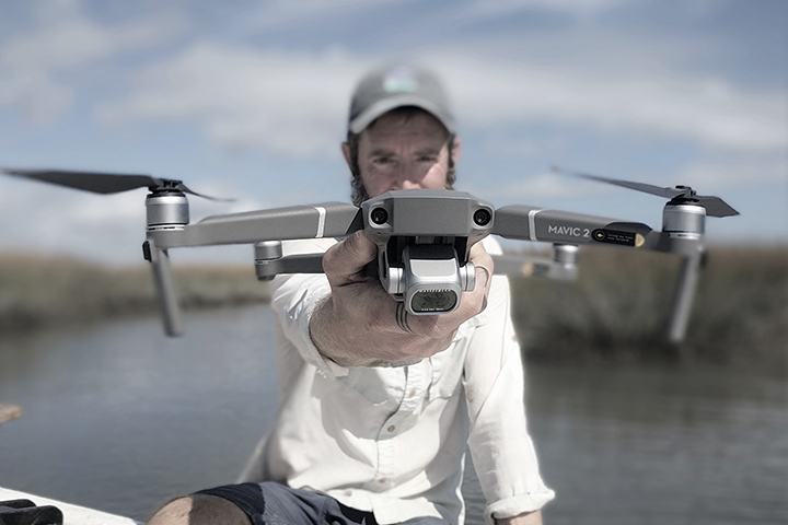 This project is advancing the use of drones to improve wetland monitoring. (Photo credit: Charlie Deaton)