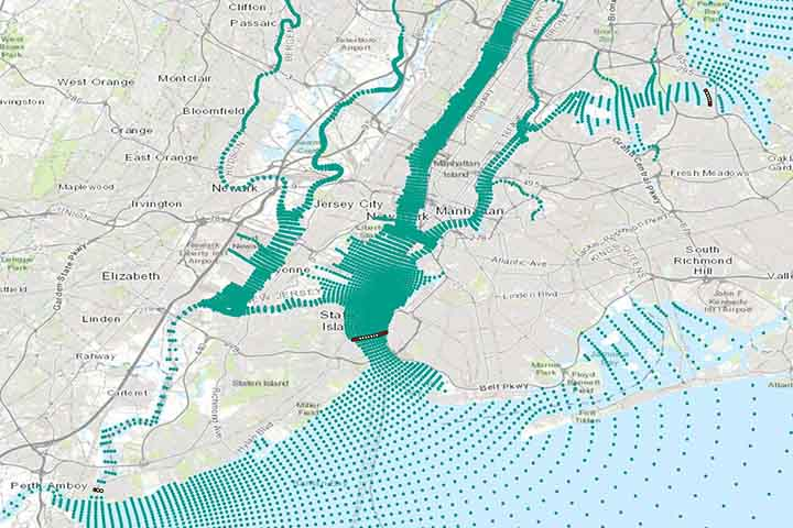 In a series of workshops, scientists and project partners shared information about the physical effects of storm surge barriers and analyzed potential effects to the Hudson.