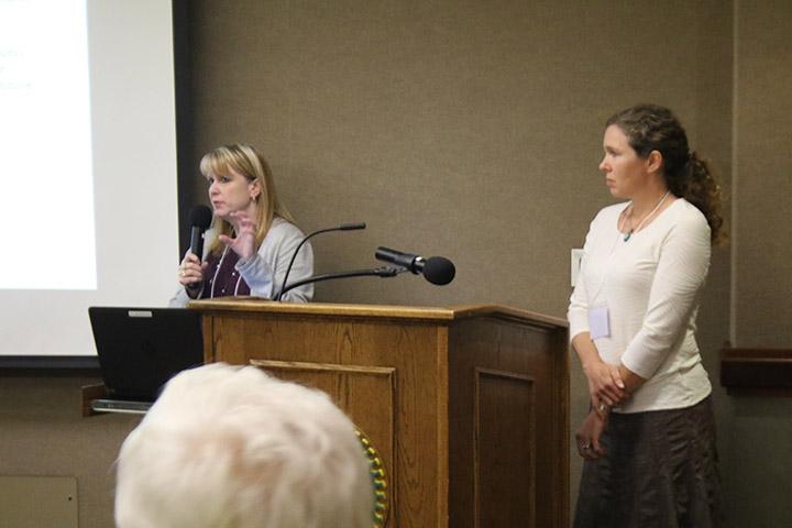 02. Jenni Schmitt and Jill Rolfe at PCW Open House