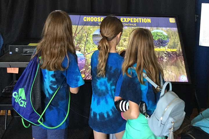The games were installed in exhibit halls at Guana Tolomato Matanzas, Mission-Aransas and Delaware NERRs.