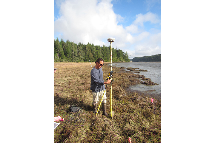 Elevation monitoring at South Slough Reserve, OR.
