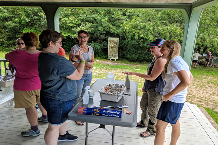 In 2018 and 2019, Waquoit Bay NERR hosted a series of Teachers on the Estuary teacher workshops. Teachers integrated estuary science into their classrooms and carried out field visits with deaf students at three New England reserves.