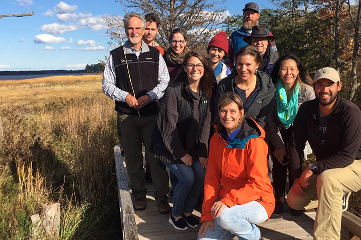 The project team posed for a group photo during the October 2019 workshop in New Hampshire.