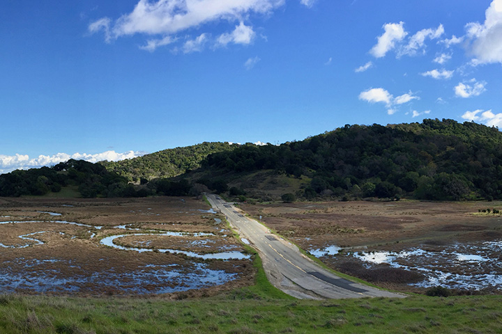 In northern California, North San Pedro Road is one example of routinely flooded infrastructure.
