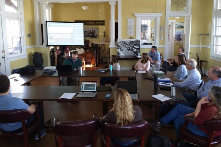 The team met regularly with the Town of Beaufort's Stormwater Advisory Committee.