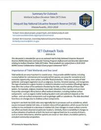 SETr Technical and Outreach Reports cover page