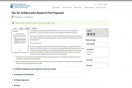 Tips for Collaborative Research Pre-Proposals