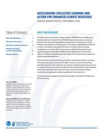 Climate Resilience Summary Report Pubcover
