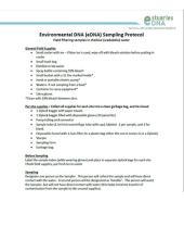 eDNA protocol cover page