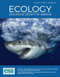 Ecology journal cover